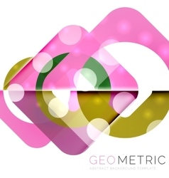 Modern abstract round shapes repititon background vector image
