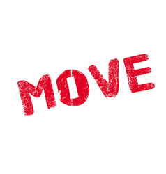 move rubber stamp vector image