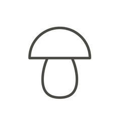 mushroom icon outline vegetarian line mus vector image