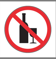 no drink abstract sign vector image