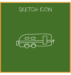 Of trip symbol on caravan vector