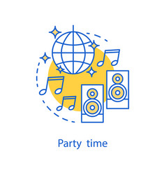 party time concept icon vector image