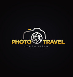 Photography travel logo symbol icon vector