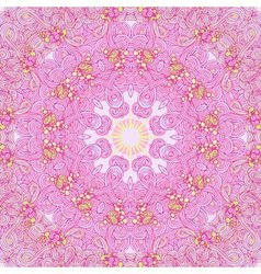 Pink abstract round seamless pattern vector image