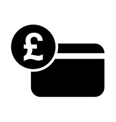 pound sterling credit card icon vector image