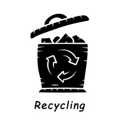 recycling glyph icon vector image