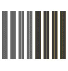 Road street with asphalt highway way vector