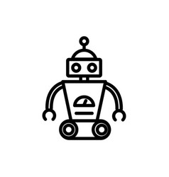 robot wheels mascot automation technology vector image