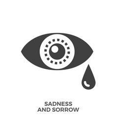 sadness and sorrow glyph icon vector image