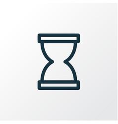 Sandglass outline symbol premium quality isolated vector