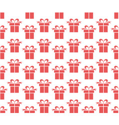 seamless background with gifts vector image
