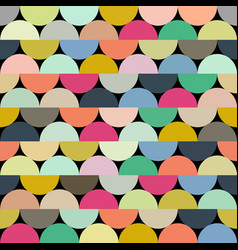 seamless halves rounds colourful pattern vector image