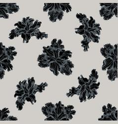 seamless pattern with hand drawn stylized iris vector image