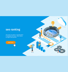 seo ranking banner 02 vector image