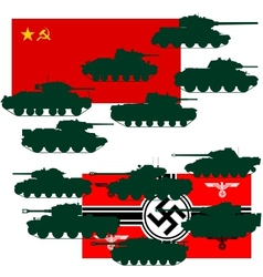 Set of war tanks vector