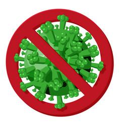 sign caution coronavirus stop corona virus vector image