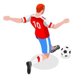 Soccer Striker 2016 Sports Isometric 3D vector image