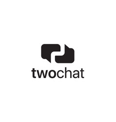 two chat logo design concept vector image