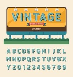 vintage billboard sign vintage signboard vector image