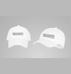 white security cap vector image