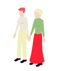 Young isometric lesbian couple vector