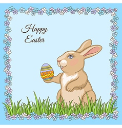 cartoon rabbit card vector image