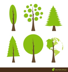 Collection of abstract tree vector image