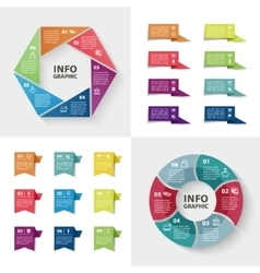 ector infographics set Collection of colorful vector image