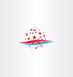 made in america abstract stylized symbol vector image