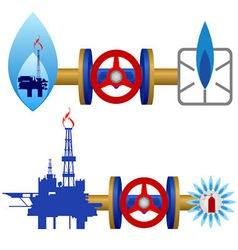 Natural gas industry vector image