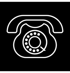 Old phone icon vector