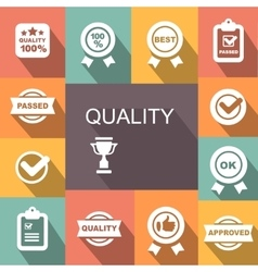 Quality control related icon set vector image vector image