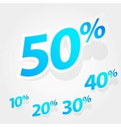 set of labels percent vector image vector image