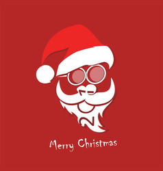 stylized image of santa claus vector image vector image