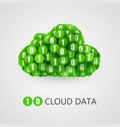 binary big data cloud concept vector image vector image