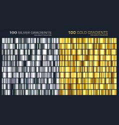 goldsilver gradientpatterntemplateset of vector image vector image