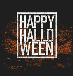 happy halloween holiday logotype vector image vector image