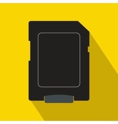 Micro sd card icon flat style vector image