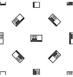 office folders on the shelf pattern seamless black vector image vector image