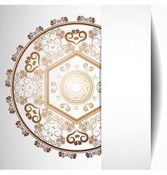 Ornamental Abstract Background for Design vector image vector image