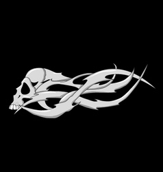skull with sharp blades vector image
