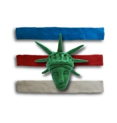 Statue of Liberty head vector image