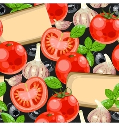 Tomato and cheese seamless vector image vector image