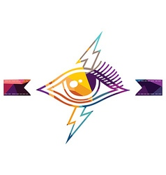 Abstract colorful triangle geometrical eye vector image vector image