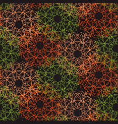 bright seamless lace pattern on a dark background vector image