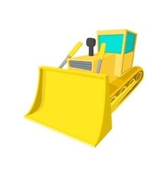 Bulldozer cartoon icon vector image