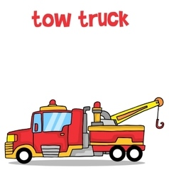 Cartoon tow truck art vector image