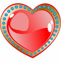 heart and diamonds design vector image