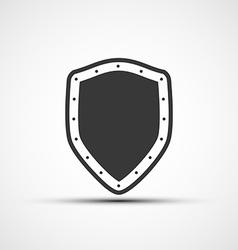 icon metal shield vector image vector image