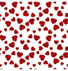 Seamless pattern hearts Happy Valentines Day vector image